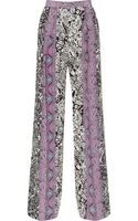 Etro Paisley-print Silk Wide-leg Pants - Lyst