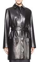 The Row Parkan Belted Leather Coat - Lyst