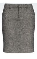 Armani Jeans Pencil Skirt in Wool - Lyst