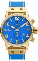 Brera Diamond Bezel Chronograph Leather Watch - Lyst