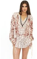 Free People Patches Tunic in Ivory Combo - Lyst