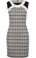 Dex Graphic Check and Color Blocked Dress - Lyst