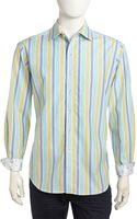 Robert Graham Julian Mixstripe Sport Shirt Blue Small - Lyst