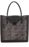 Loeffler Randall Haircalf Work Tote Feather - Lyst