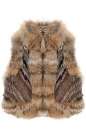 Elizabeth And James Robby Multi Colored Fur Gilet - Lyst