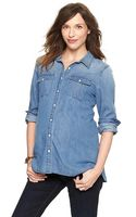 Gap Denim Shirt - Lyst
