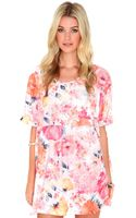 Missguided Boo Floral Print Trapeze Dress  - Lyst