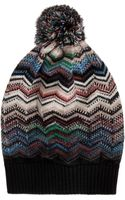 Missoni Zz Knitted Bobble Hat - Lyst