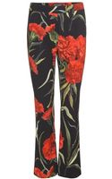 Dolce & Gabbana Floral-printed Crepe Trousers - Lyst