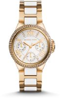 Michael Kors Mini Camille Goldtone Stainless Steel Glitz Chronograph Bracelet Watch - Lyst