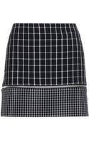 MICHAEL Michael Kors Checked Mini Skirt - Lyst