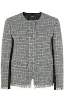 Paul Smith Black Label Cropped Tweed Jacket - Lyst
