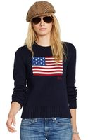 Polo Ralph Lauren Long Sleeve American Flag Sweater - Lyst