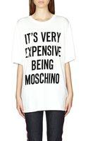 Moschino Slogan-print Cotton T-shirt - Lyst