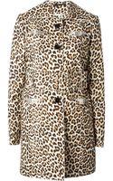Carven Embellished Leopard Print Coat - Lyst