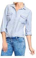 Old Navy Classic Chambray Shirt - Lyst