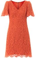 Dolce & Gabbana Short Sleeved Lace Dress - Lyst