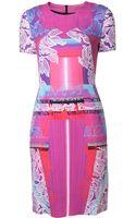 Peter Pilotto Mixed Print Dress - Lyst