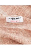 Menlook Label Camel Striped Scarf - Lyst