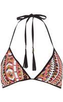 River Island Red Aztec Sequin Bikini Top - Lyst