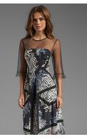 BCBGMAXAZRIA Combo Print Dress in Black - Lyst