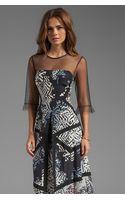 BCBGMAXAZRIA Combo Print Dress in Black - Lyst