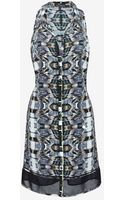 Exclusive For Intermix Malinda Silk Print Shirt Dress - Lyst