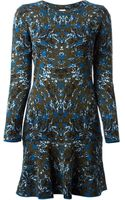 M Missoni Knitted Flared Dress - Lyst