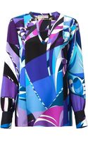 Emilio Pucci Psychedelic Print Blouse - Lyst