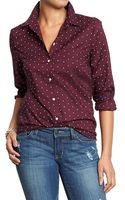 Old Navy Polka-dot Button-front Shirts - Lyst