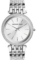 Michael Kors Darci Silvertone Stainless Steel Watch - Lyst
