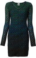 M Missoni Crochet Knit Fitted Dress - Lyst