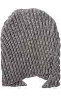 Comme Des Garçons Peaked Wool Knitted Beanie Grey - Lyst