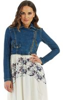 Free People Cropped Moto Jacket - Lyst