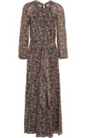 Etoile Isabel Marant Drecious Printed Georgette Maxi Dress - Lyst