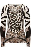 Etro Silk Cashmere Animal Print Top - Lyst