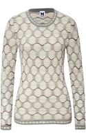 M Missoni Optical Knit Pullover - Lyst