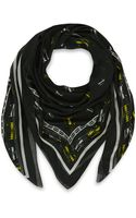 McQ by Alexander McQueen Black and White Razor Blade Print Modal Scarf - Lyst