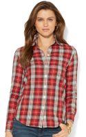 Lauren Jeans Co. Lauren Jeans Co Tabsleeve Plaid Shirt - Lyst