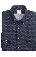 Brooks Brothers Noniron Regular Fit Dot Sport Shirt - Lyst