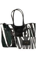 V73 Handbag Cruise Mix Shopping in Leather Pony with Studs - Lyst