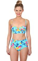 Betsey Johnson Prima Rose Bandeau Top - Lyst