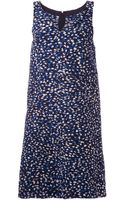 Oscar de la Renta Printed Shift Dress - Lyst
