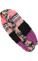 Missoni Pink and Orange Braided Knit Turban - Lyst