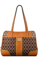 Nine West 9s Mixed Media Medium Shopper - Lyst