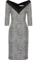 Preen By Thorton Bregazzi Paneled Silkjacquard Dress - Lyst