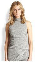 Elizabeth And James Hilly Ruched Jersey Turtleneck Top - Lyst