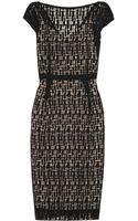 Lela Rose Cottonblend Lace Dress - Lyst
