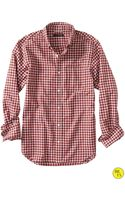 Banana Republic Factory Davis Check Oxford Shirt  Brick - Lyst