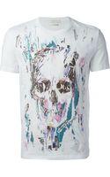 Alexander McQueen Skull Print T-Shirt - Lyst